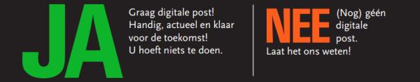Informatie over 'uw post digitaal'. Bij u op de deurmat.